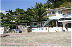 Blue rock resort front beach